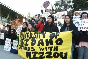Palouse college students rally against racism