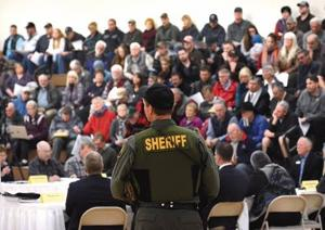 Lochsa meeting draws show of force
