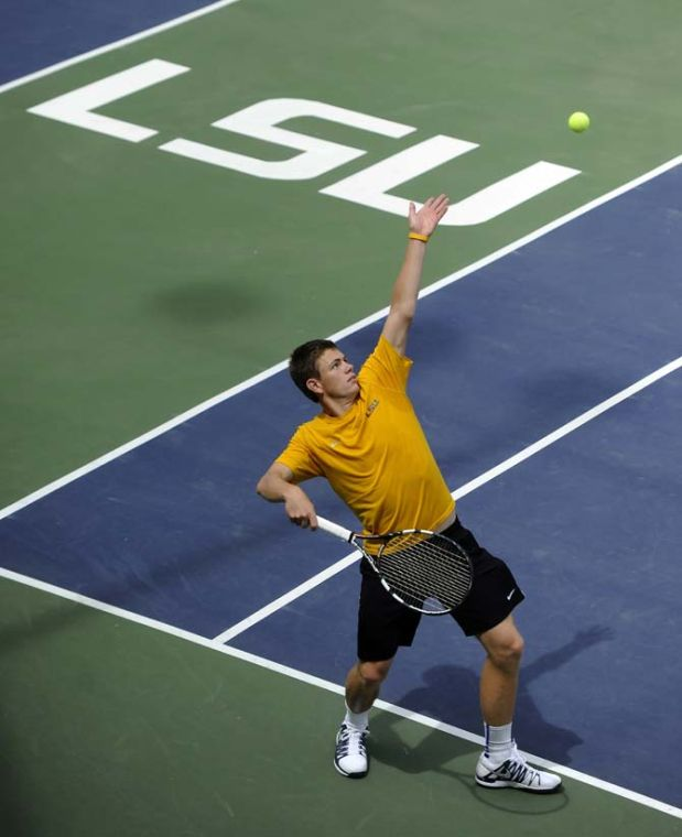 LSU men's tennis makes most of practice despite shifting ...