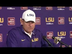 """Les Miles: """"We're going to have to play that position [QB] next year, too? Damn."""""""