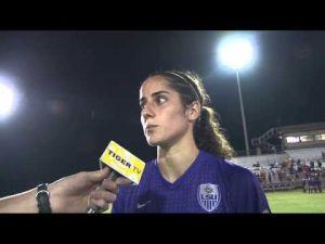 LSU Soccer defeats NSU: Natalia Gomez-Junco Postgame