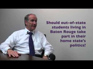 VIDEO: LSU Provost Stuart Bell encourages students to #GeauxVote