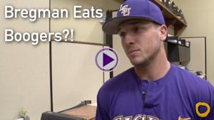 LSU Baseball Players Eat BOOGERS?! - Benchwarmer