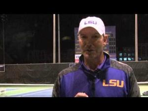 "LSU Tennis Coach Jeff Brown reacts to the Tigers loss to the 13th ranked Ole Miss Rebels on Friday at W.T. ""Dub"" Robinson Stadium in Baton Rouge. LSU was ranked 24th in the Nation before the match and stood in second place in the SEC West Standings. The Rebels defeated the Tigers, 4-3, in a close match that went down to the final set. LSU will play host to the Arkansas Razorbacks on Sunday as they enter the final stretch of the season. The team is looking to close their tenure at Dub Robertson Stadium on a positive note in their few remaining SEC games before moving to their new facility next spring.Check out our latest coverage at http://www.tigertv.tv/ .Follow us on Twitter here: https://twitter.com/lsutigertvFollow us on Facebook here: https://www.facebook.com/lsutigertvJoin the conversation on social media by using #lsuttv on Facebook, Instagram and Twitter."