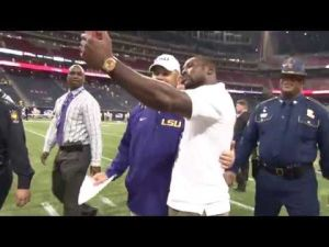 Patrick Peterson takes selfie with Les Miles
