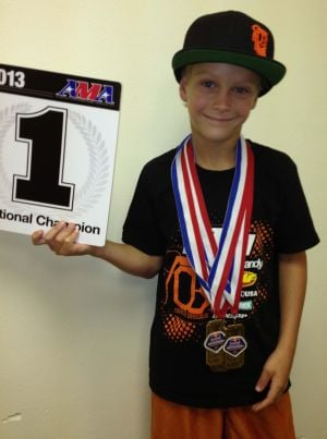 Daxton Bennick wins national motocross championship
