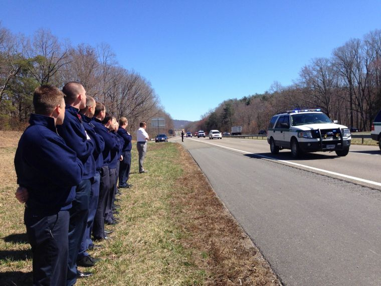 Procession for Officer Crisp