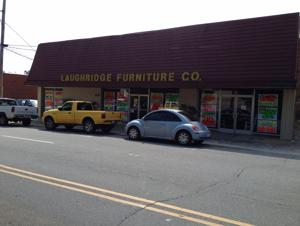 Laughridge Furniture. a downtown fixture, closing after 80 years