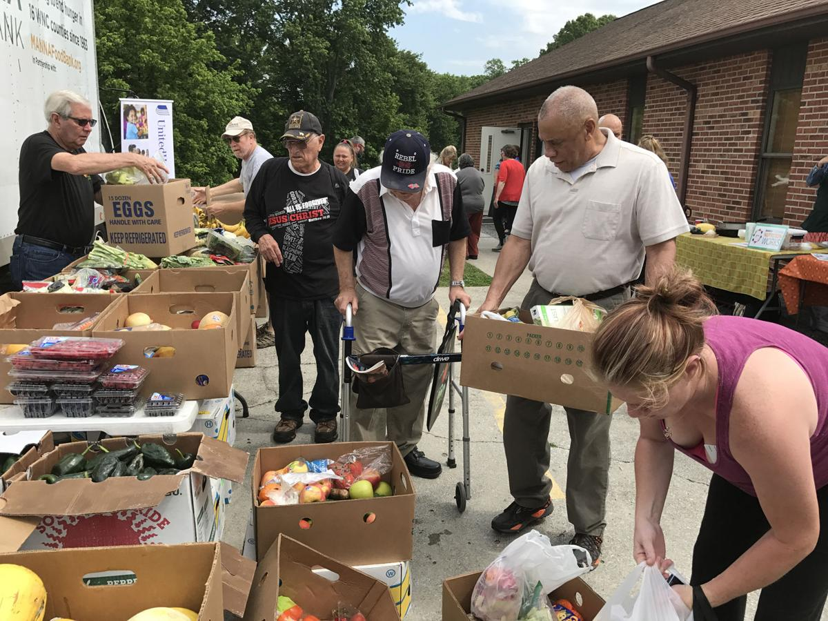 More than 100 households get fresh food at Thursday's distribution