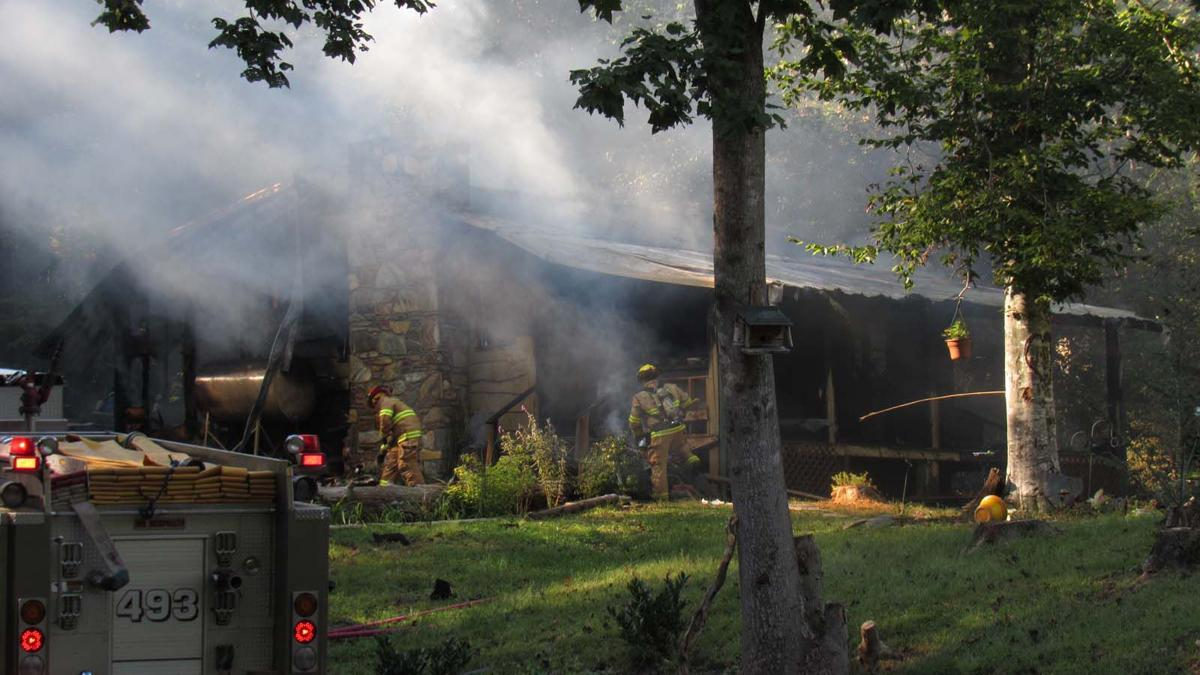 Fire destroys home on Cannon Road