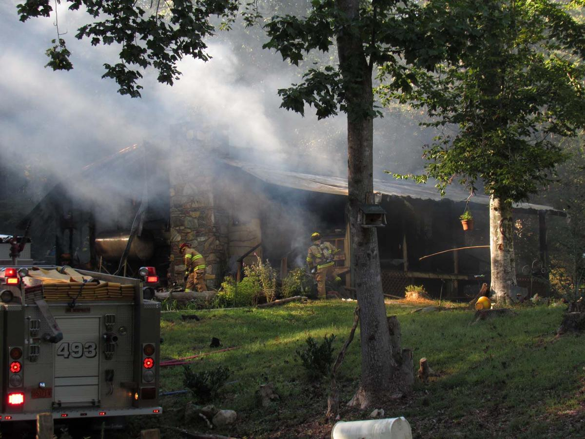 Fire destroys home on Canon Road