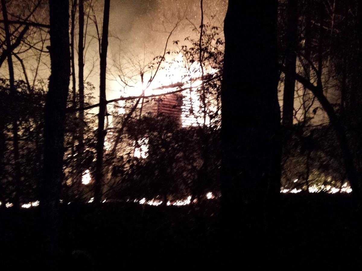 Fire destroys home: McDowell, Buncombe units battle Gateway Mountain blaze