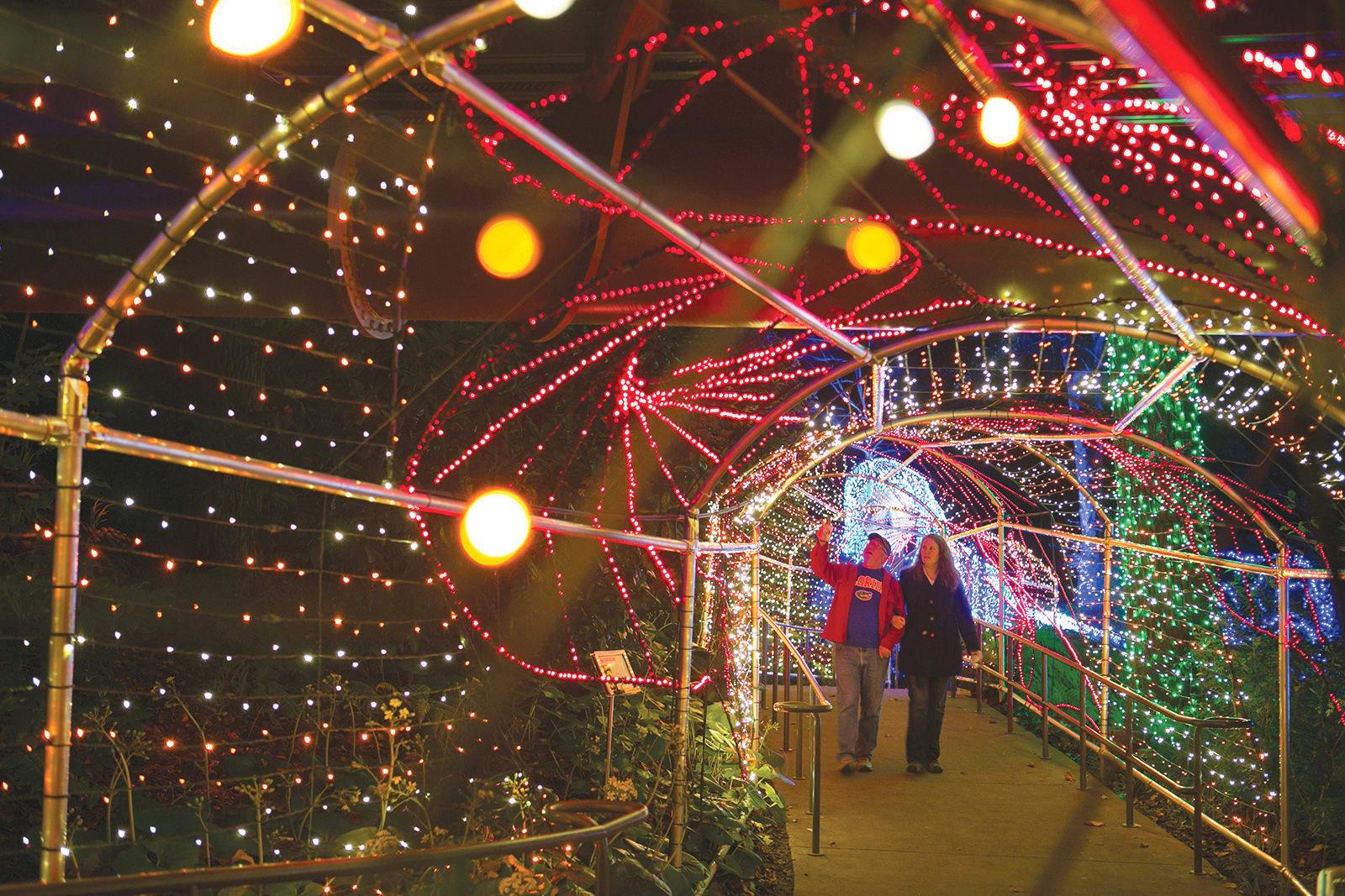 Atlanta Botanical Gardens Garden Lights Holiday Nights now an