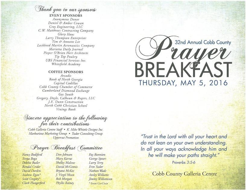 Prayer Breakfast Program 1     mdjonline.com