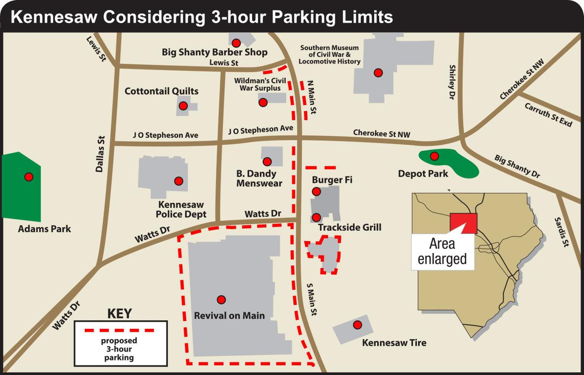 Kennesaw parking limit proposal map