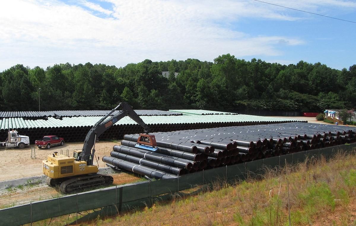 Natural Gas Pipeline Installation : Construction nears on natural gas line through douglas