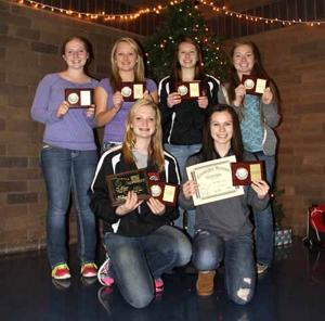 IHS Girls Volleyball Award winners