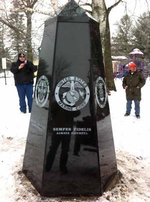 Monolith installed in Wahkon's Veterans Park