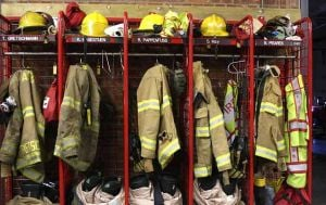 Current firefighter turnout gear is 10 years old and well-worn.