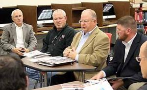 Kraus-Anderson representatives gave a presentation to the Aitkin School Board Oct. 13.