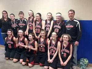The seventh and eight grade Aitkin team