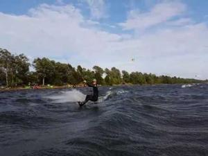 Kiteboarding on Mille Lacs Lake