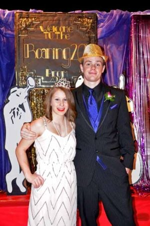 OHS prom queen Mariah Wagner and king Chris Crotty.
