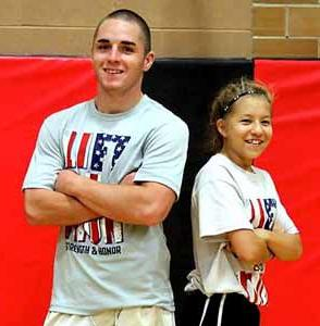 Jeb Sanford and Jenna Cline set school records for Most Pounds per Ounce.