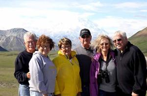 The group who shared laughter and memories on the cruise