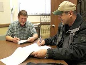 Terry Neff and Steve Hughes are working together as part of a larger committee aiming to keep aquatic invasive species out of Aitkin County waters.