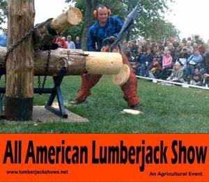 The Lumberjack Show will be performed daily at the Aitkin County Fair that runs July 8-11.