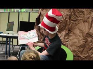 Jake Fontaine reads Fox in Socks by Dr. Seuss