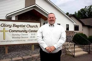 New pastor Chris Meirose and Glory Baptist Church about two miles west of Glen.