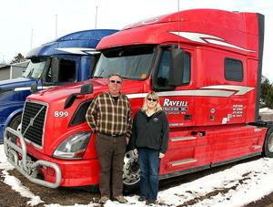 Curt and Lisa Raveill make sure their trucks and drivers are up-to-date on technology and safety standards when out on the road.