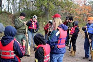 Kathio Archaeology Day - canoers
