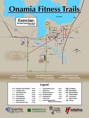 Onamia Fitness  Trails map