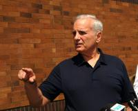<p>Governor Mark Dayton visited Isle to hear the public's input on the walleye population decline and the impact its had.</p>