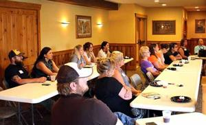 McGregor residents, looking to improve or hone their leadership skills, attended a July 20 meeting at Big Sandy Lodge and Resort to learn about the Blandin Community Leadership Program.