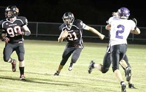 Auston Anderson scored four touchdowns in the Mercs' win over Hill City.