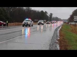 Steven Sandberg procession to Bennettville Cemetery