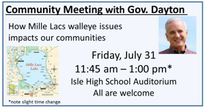 Community meeting with Governor Dayton July 31
