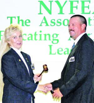 Allen Tyler receives Young Farmer gavel