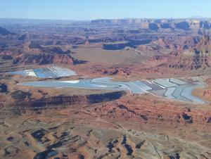 Intrepid Potash evaporation ponds