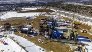 <p>Canadian company U.S. Oil Sands is slowing down the pace of construction work at its PR Spring Mine in the Book Cliffs north of Moab. [Photo courtesy of U.S. Oil Sands]</p>