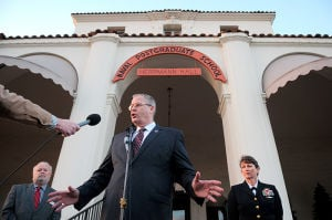NPS president and provost booted over violations; contract worker remains on staff.