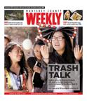 Issue March 26, 2015: TRASH TALK - Students across the Monterey Peninsula rally under a recycled, compostable, plastic-free banner for Zero Waste Week. 18
