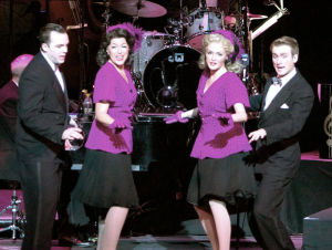 In the Mood delivers song, dance and a full orchestra in its celebration of big band and swing music of the 1940s.
