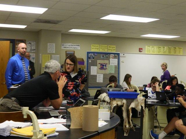 School visitors at mhs mooresville tribune featured for Edge motors mooresville nc