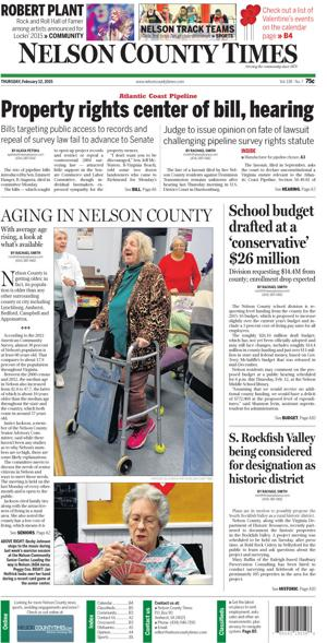 Nelson County Times for Feb. 12, 2015