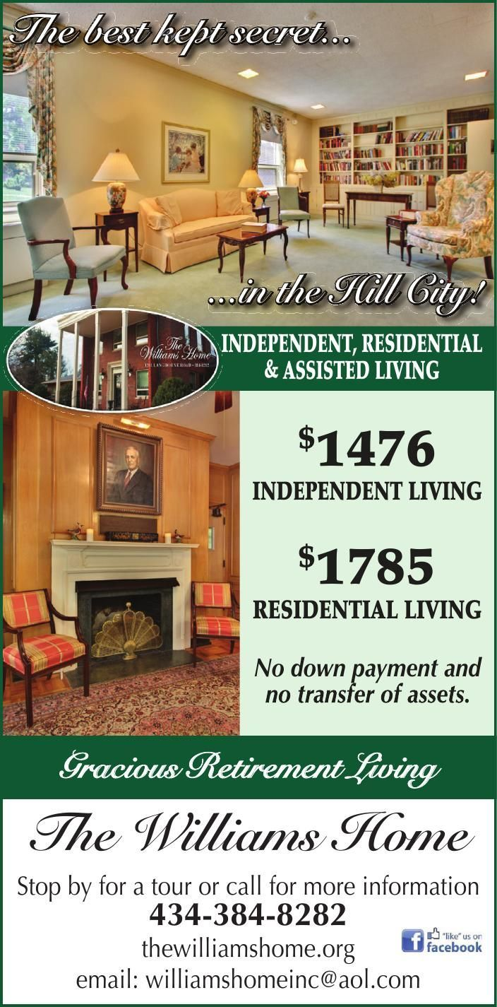 The Williams Home Independent Retirement Living Asssited